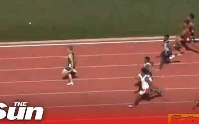 Středoškolák zaběhl 100 metrů jen o 0,4 sekundy pomaleji než Usain Bolt