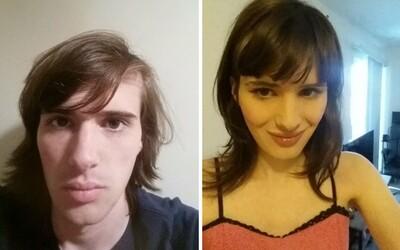 Študent 17 mesiacov dokumentoval svoju premenu z muža na ženu. Po viac ako roku dostala svoje vysnívané telo a našla aj lásku