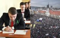 Študenti budú protestovať proti nespravodlivým maturitám v centre Bratislavy