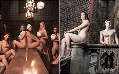 Študenti z Cambridgeskej univerzity pózovali nahí pre charitatívny kalendár. Zakrývali sa len športovým náčiním