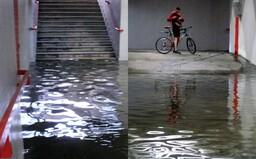 Stúpajúca hladina Dunaja spôsobila v Bratislave záplavy