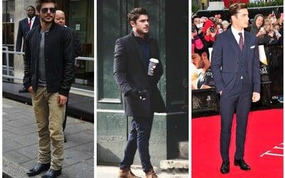 Štýl celebrít, alebo ako sa obliekajú známi ľudia #3: Zac Efron