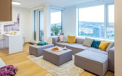 Štýlové bývanie v bratislavskom Panorama City s výhľadom na takmer všetky krásy mesta