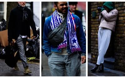 Styloví lidé všude kolem. Přesně tak to vypadalo v ulicích Londýna během tamějšího týdne módy
