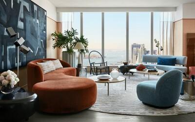 Stylový apartmán v 60. patře s výhledem na Manhattan aneb jedno z nejkrásnějších bydlení v New Yorku