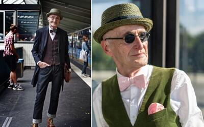 Štýlový starček by mohol obliekaním inšpirovať aj mnohých mladých ľudí. Nosí len to, čo ho robí šťastným