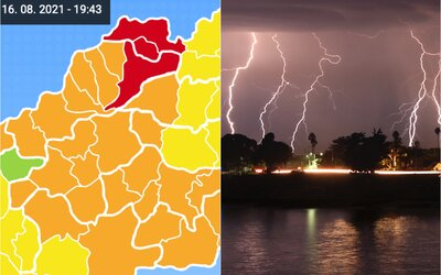 Supercelárne búrky sa vracajú na Slovensko, udrú aj s veľkými krúpami. Meteorológovia vydávajú najvyššie výstrahy
