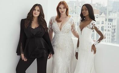 Svadobné šaty aj pre plnšie ženy. Kolekcia od Ashley Graham je ódou na krásu