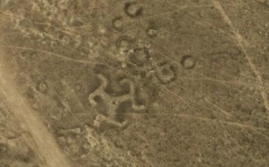Svastika na rozsiahlych stepiach Kazachstanu? Satelitné snímky dali do pozoru nejedného výskumníka