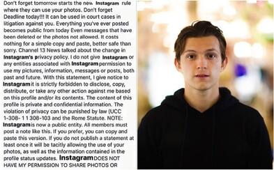 Svetové celebrity vrátane Toma Hollanda či Ushera zdieľali hoax, že Instagram zneužije ich fotky. Fanúšikovia im to dali vyžrať