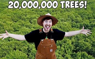 Světoví youtubeři se spojí a vysadí 20 milionů stromů. Projekt #TeamTrees vede MrBeast