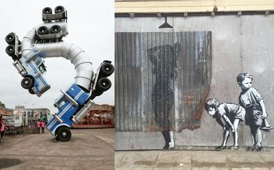 Svetoznámy umelec Banksy oficiálne predstavil svoj protest voči Disney, zábavný park Dismaland