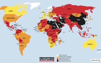Svobodnější novinařina než Česku je i v Botwsaně, Burkina Faso a na Slovensku. Nejhůře je na tom KLDR a Turkmenistán
