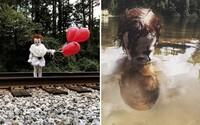 Svojho 3-ročného brata prezliekol za klauna z hororu It. Vznikli z toho znepokojujúce fotografie