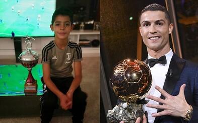 Syn Cristiana Ronalda už zbiera trofeje. Budem lepší ako môj otec, vyhlasuje