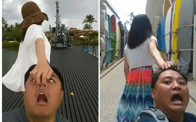 Taiwanskí zaľúbenci vytvorili svoj vlastný, o čosi humornejší projekt Follow Me. Nekonalo sa žiadne romantické držanie na ruku
