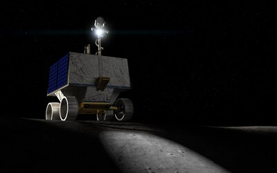 Takto bude vyzerať vozidlo NASA, ktoré bude na Mesiaci hľadať a mapovať prítomnosť vody