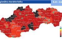 Takto budú vyzerať okresy od budúceho týždňa: Situácia na Slovensku sa podľa ministerstva zdravotníctva zlepšuje
