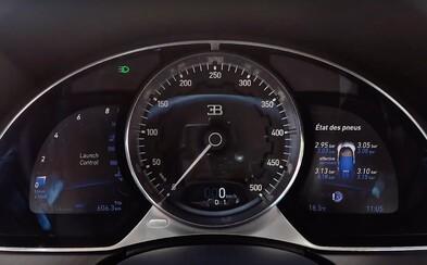Takto famózne dokáže akcelerovať 1500-koňové Bugatti Chiron z 0 na 350 km/h