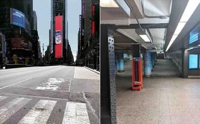 Takto vyzerá prázdny New York. Guvernér prikázal zatvoriť všetky firmy, prevádzky aj obchody