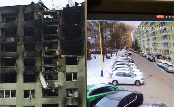 Takto vyzeral výbuch o 12:12:52: Video z bezpečnostnej kamery jednej z reštaurácií zaznamenáva explóziu plynu v paneláku v Prešove
