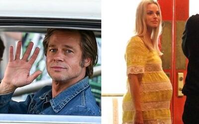 Tarantinova novinka odhaluje těhotnou Margot Robbie, vysmátého Brada Pitta či odpočívajícího režiséra