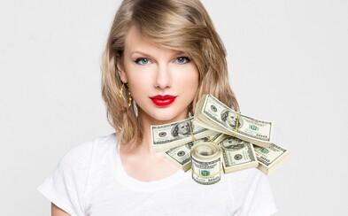 Taylor Swift zarába milión za každý deň. Spevácka hviezda by mala rok ukončiť s 365 miliónmi dolárov