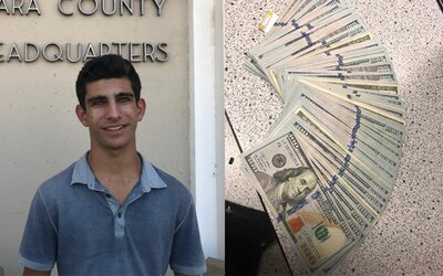 Teenager našel kabelku s 10 000 dolary. Neváhal a hned ji šel vrátit