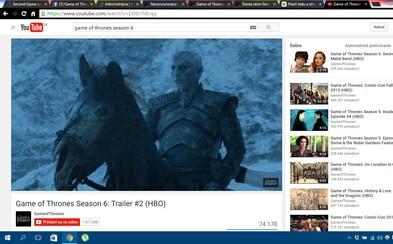 Temnota, bolesť, strach a utrpenie prevládajú v dychberúcom traileri 6. série Game of Thrones