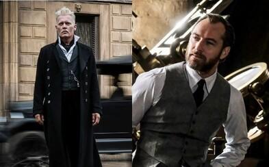 Temný čarodejník Gellert Grindelwald a mladý Albus Dumbledore hviezdia na lákavých obrázkoch z očakávaného pokračovania Fantastic Beasts
