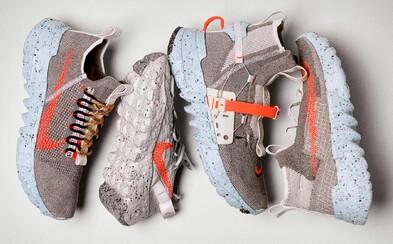 Tenisky, na jejichž výrobu použili výhradně tovární odpad. Nike vydává 4 siluety s futuristickým designem