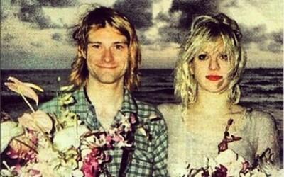 Tento muž byl můj anděl. Courtney Love zveřejnila fotku ze svatby s Kurtem Cobainem