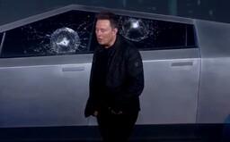 Tesla Cybertruck má mít nerozbitná skla. Rozbila se už během živé prezentace