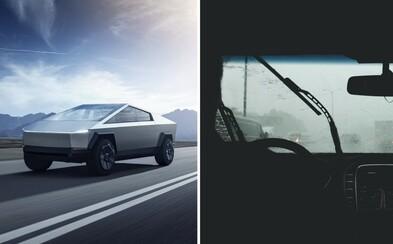 Tesla Cybertruck zrejme nedostane stierače. Predné sklo budú čistiť unikátne lasery