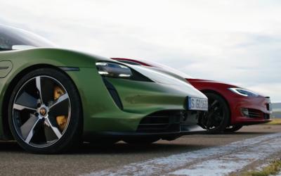 Tesla Model S a Porsche Taycan si to rozdali v šprinte organizovanom britským magazínom Top Gear