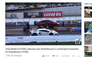 Tesla Model X porazila v pretekoch na štvrť míle Lamborghini Aventador SV a vytvorila rovno nový svetový rekord ako najrýchlejšie SUV