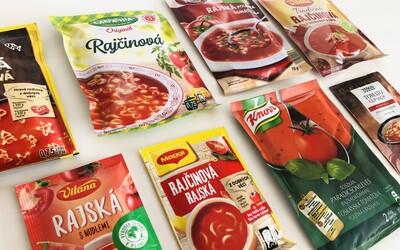 Test 8 vrecúškových rajčinových polievok: môžu nimi študenti nahradiť domácu stravu alebo je to len glutamanové zlo?