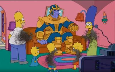Thanos se po Avengers vrhl i na Simpsonovi. Přežila jen Maggie