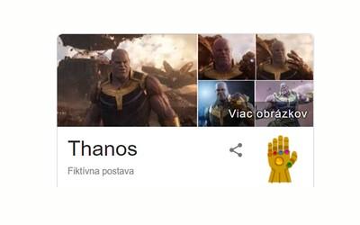 Thanos ti nechá lusknutím prstov zmiznúť polovicu obrazovky. Otestuj vtipnú novinku na Google