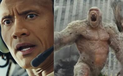The Rock bojuje v nadupanom traileri pre akčňák Rampage so zmutovanou gorilou, vlkom a aligátorom, ktoré majú zálusk zničiť celý svet