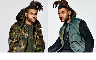 The Weeknd v kúskoch z Kanyeho kolekcie Season 1 pre časopis GQ