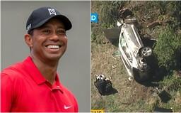 Tiger Woods měl vážnou dopravní nehodu, leží v nemocnici. Z vraku auta ho museli vyprostit kleštěmi