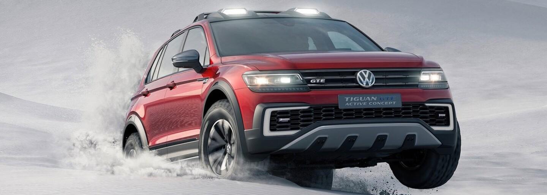 Tiguan GTE Active: Volkswagen s dvojicou elektromotorov do drsných podmienok