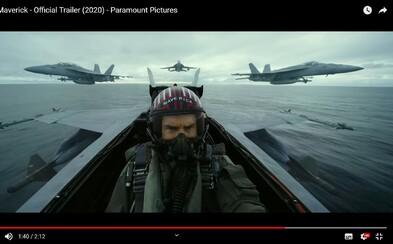 Tom Cruise obnovuje svoju lásku k stíhačkám v adrenalínovom traileri pre Top Gun: Maverick