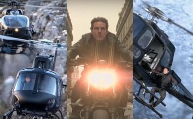 Tom Cruise sa na akčnú scénu s helikoptérami pripravoval dva roky. Dokonca získal licenciu na ich pilotovanie