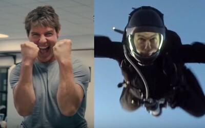 Tom Cruise žije kaskadérskymi kúskami! Sledujte, ako prebiehalo náročné natáčanie scény zoskoku z lietadla pre Mission: Impossible 6