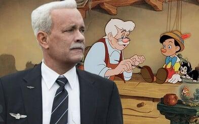 Tom Hanks si zahraje Geppetta ve filmu o Pinocchiovi