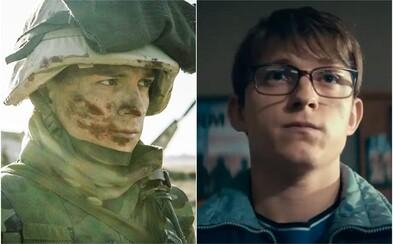 Tom Holland je Cherry, vojnový veterán, ktorý sa po návrate domov psychicky zrúti a začne prepadávať banky