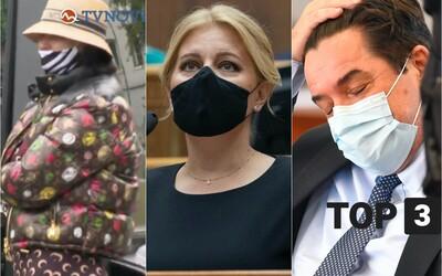 TOP 3: Prezidentka ďakuje zdravotníkom, Plačkovú obvinili pre drogy, Kočnera obžalovali z objednávky vraždy