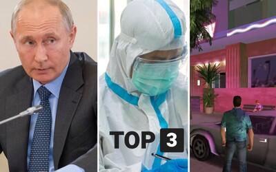 TOP 3 v pondelok: Bývalá upratovačka vraj tajne porodila dcéru Putinovi, tretia vlna udrela naplno, Remaster Grand Theft Auto